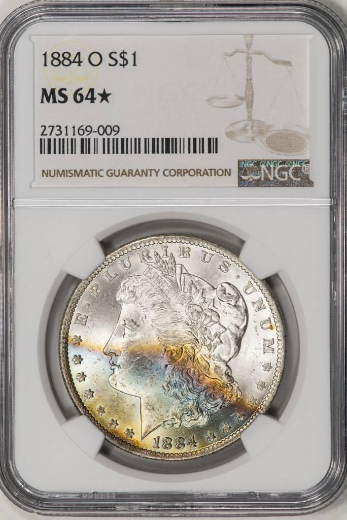 1884-O NGC MS64* MORGAN DOLLAR