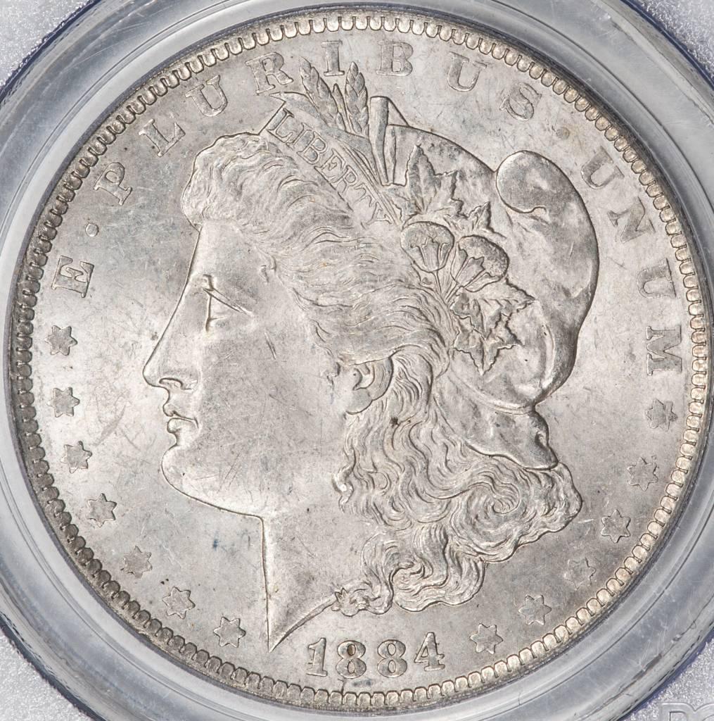1884 O PCGS MS62 Morgan Silver Dollar