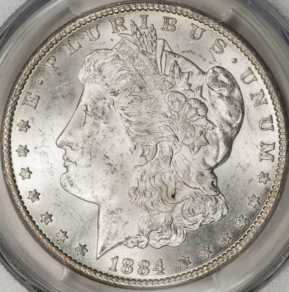 1884-CC PCGS MS63 Morgan Silver Dollar