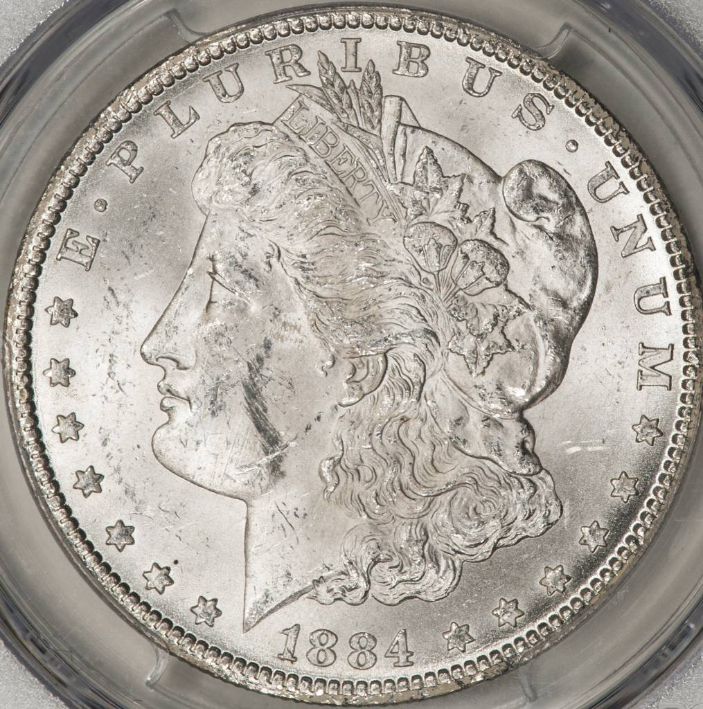 1884-CC PCGS MS62 Morgan Silver Dollar