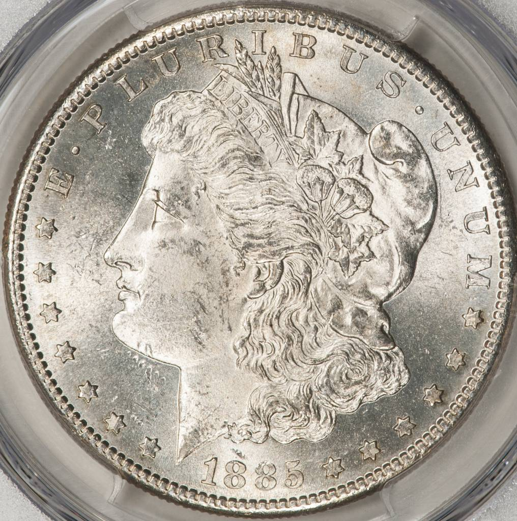 1885-S PCGS MS63 Morgan Silver Dollar