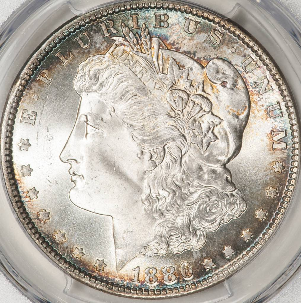 1886 PCGS MS66+ Morgan Silver Dollar