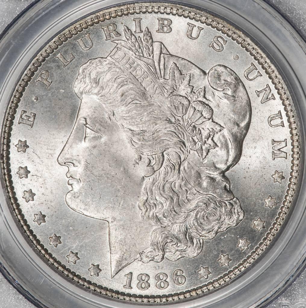 1886 PCGS MS65 MORGAN DOLLAR