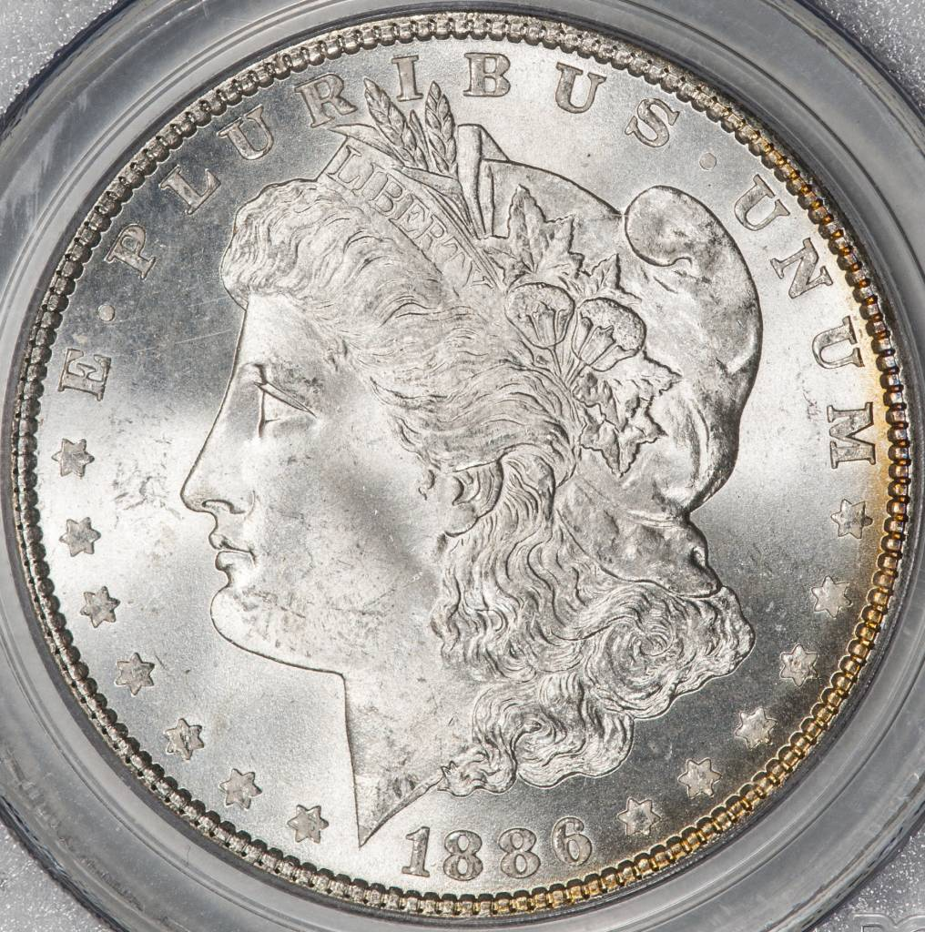 1886 PCGS MS65 Morgan Silver Dollar