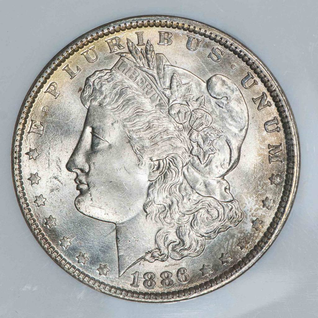 1886 NGC MS65 Morgan Silver Dollar