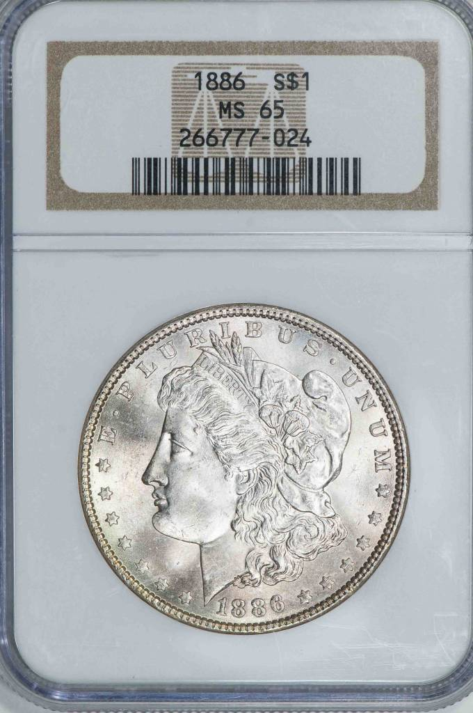 1886 NGC MS65 Morgan Dollar