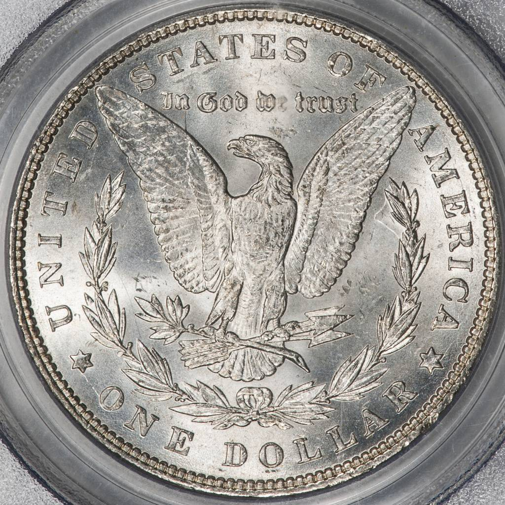 1887 PCGS MS64 VAM12 Alligator Eye Morgan Dollar