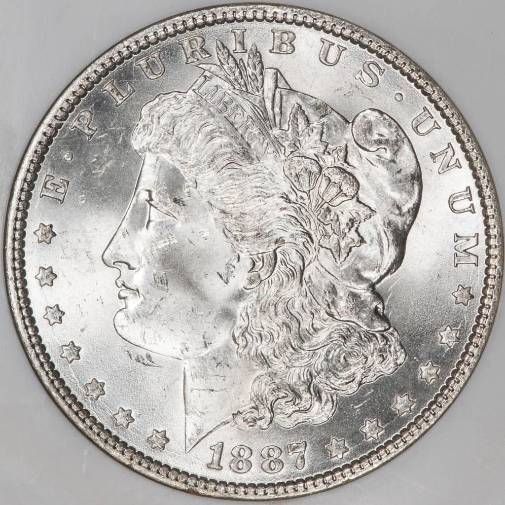 1887 NGC MS64 Morgan Silver Dollar