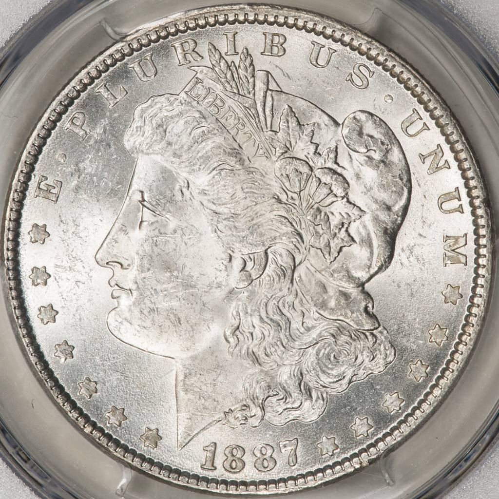 1887 PCGS MS62 Morgan Silver Dollar