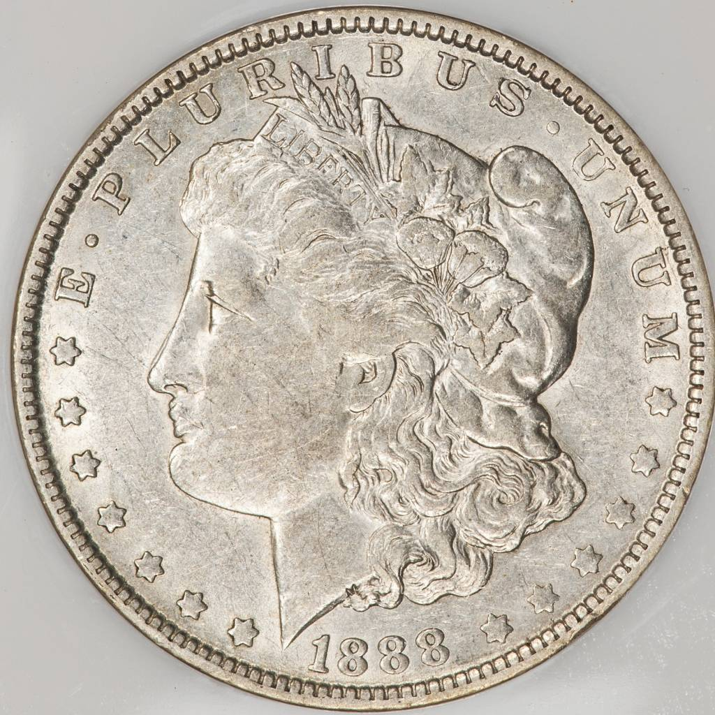 1888 O NGC AU50 VAM 4 Hot Lips Morgan  Silver Dollar