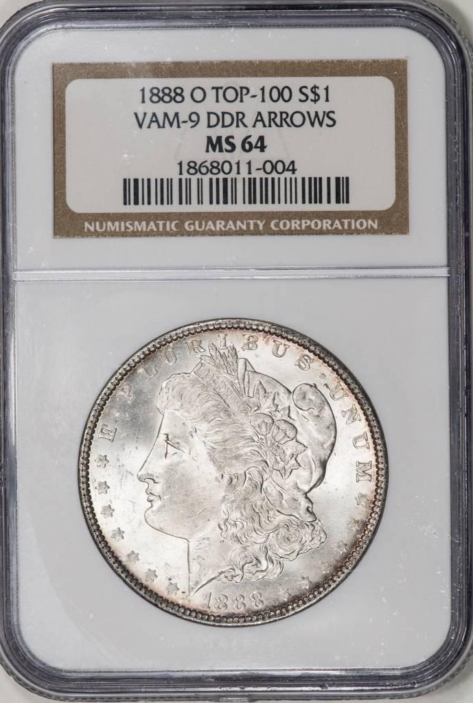 1888 O NGC MS64 VAM 9 Morgan Silver Dollar