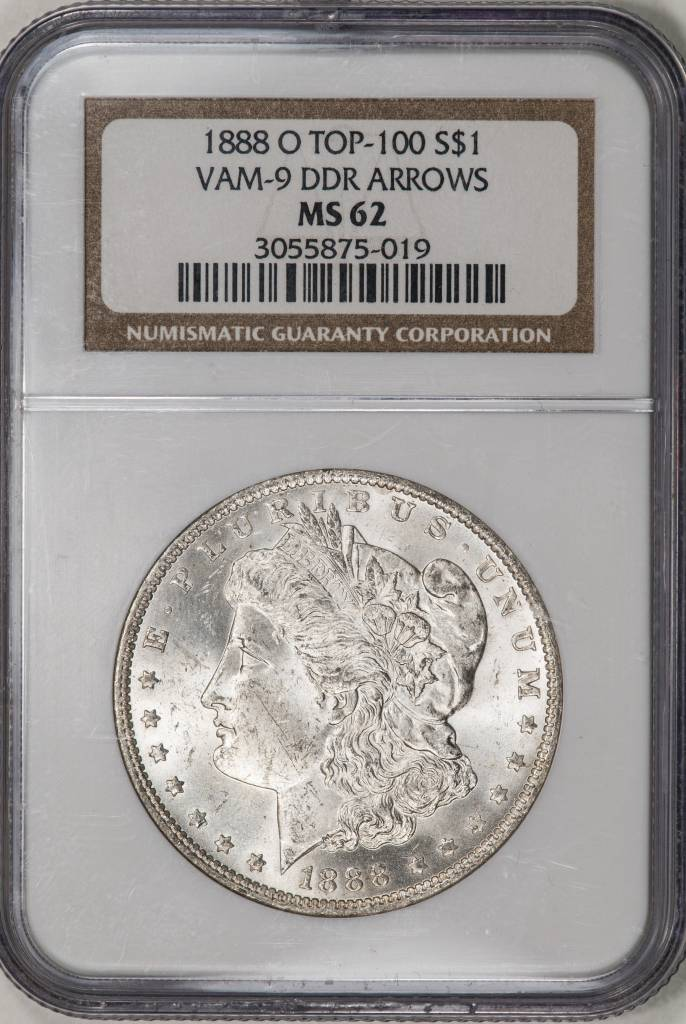 1888 O NGC MS62 VAM 9 DDR Arrows Morgan