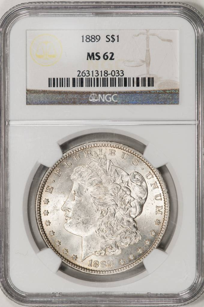 1889 NGC MS62 Morgan Silver Dollar