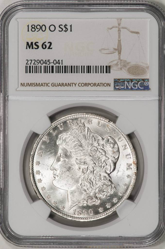 1890-O NGC MS62 Morgan Silver Dollar
