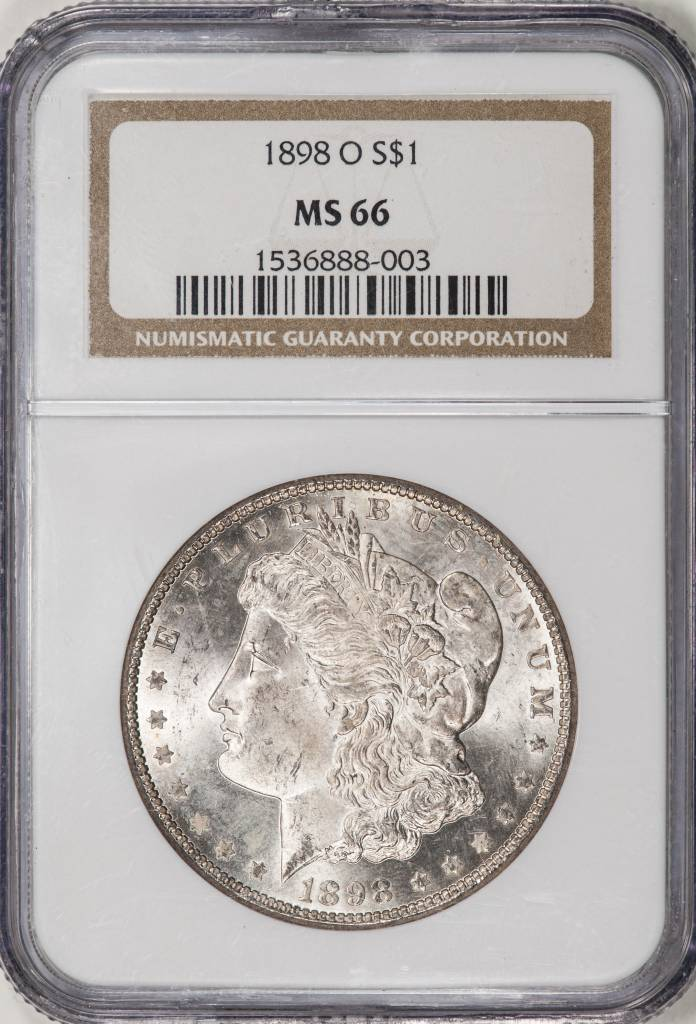 1898 O NGC MS66 Morgan Silver Dollar
