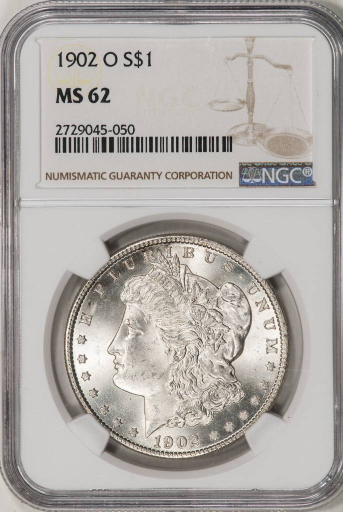 1902-O NGC MS62 Morgan Silver Dollar