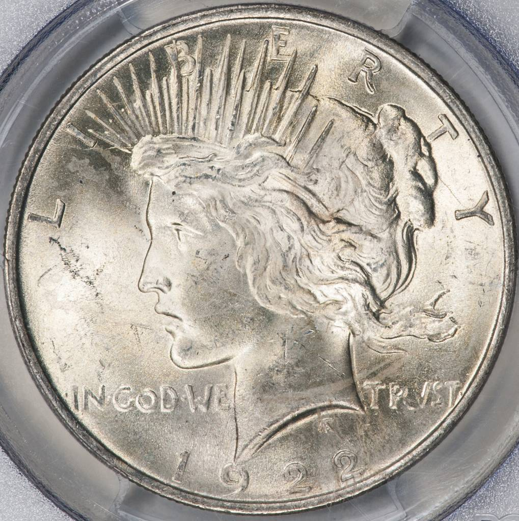 1922 PCGS MS64 Peace Silver Dollar