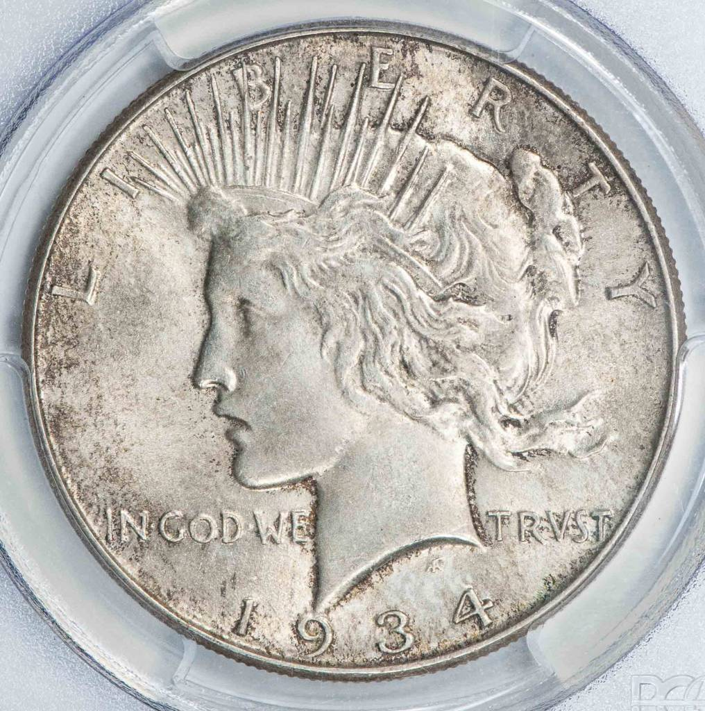 1934 PCGS MS64 Peace Silver Dollar