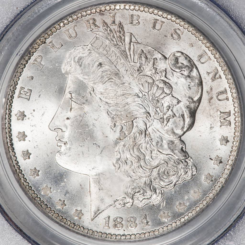 1884 O PCGS MS64+ Morgan Silver Dollar