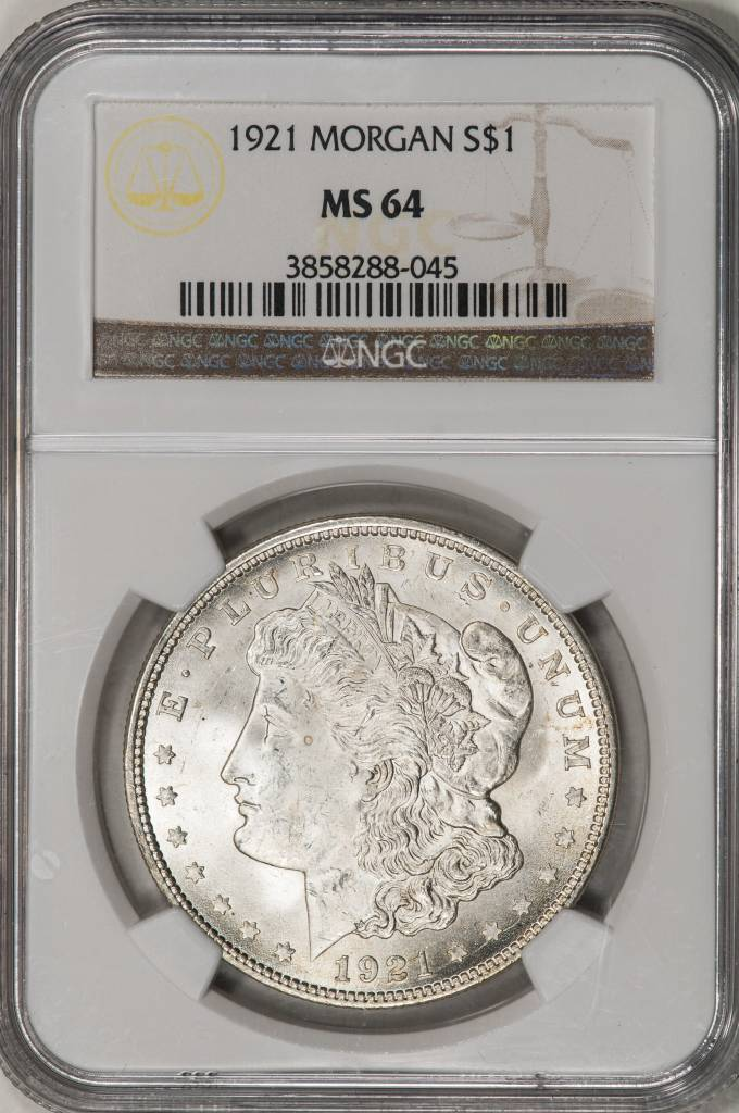 1921 NGC MS64 Morgan Silver Dollar