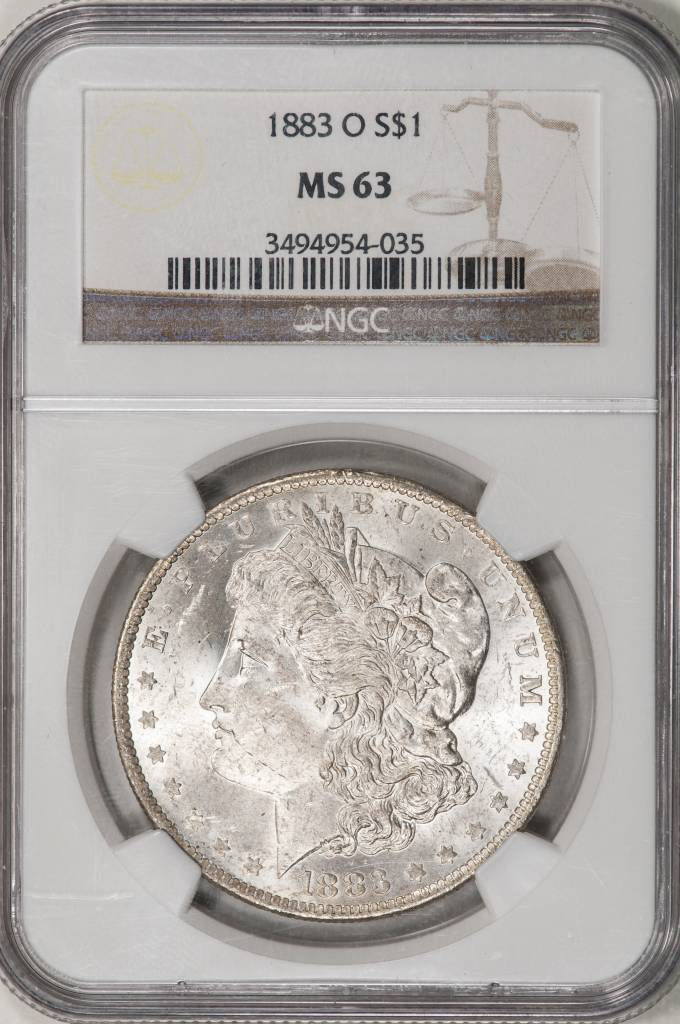 1883 NGC MS63 Morgan Silver Dollar