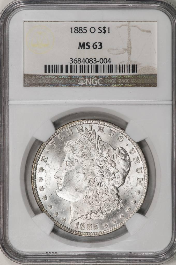 1885 O NGC MS63 Morgan Silver Dollar