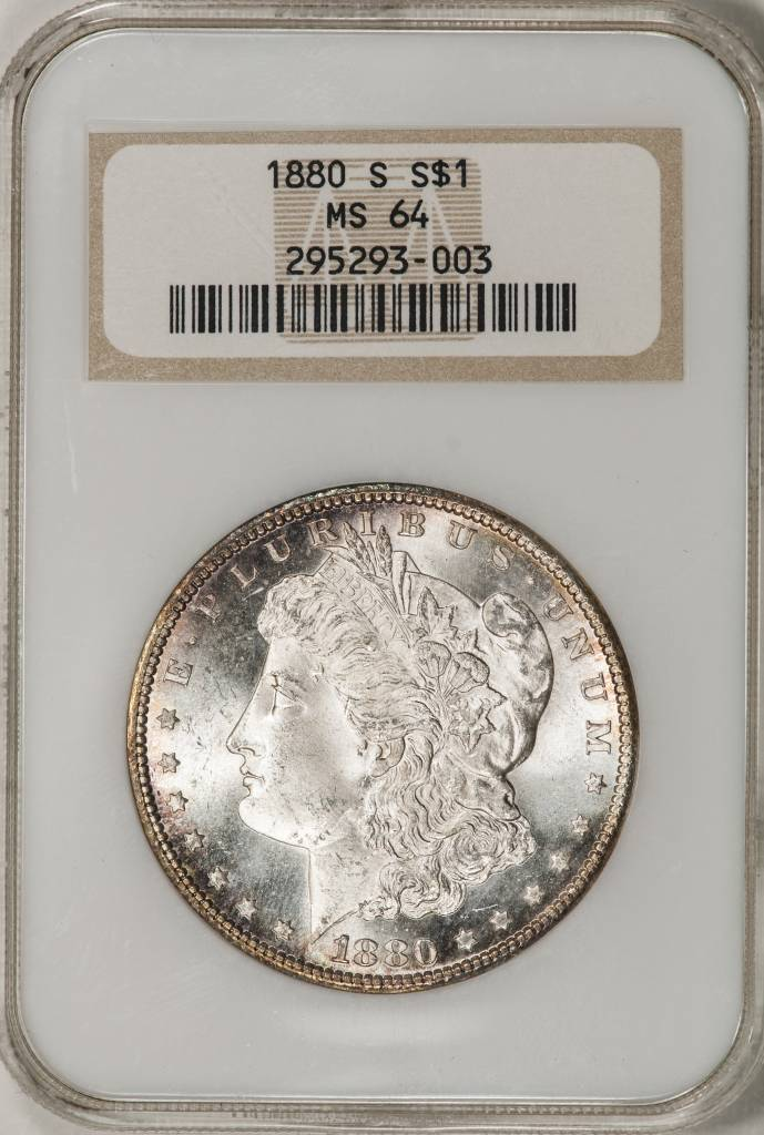 1880 S NGC MS64 Morgan Silver Dollar