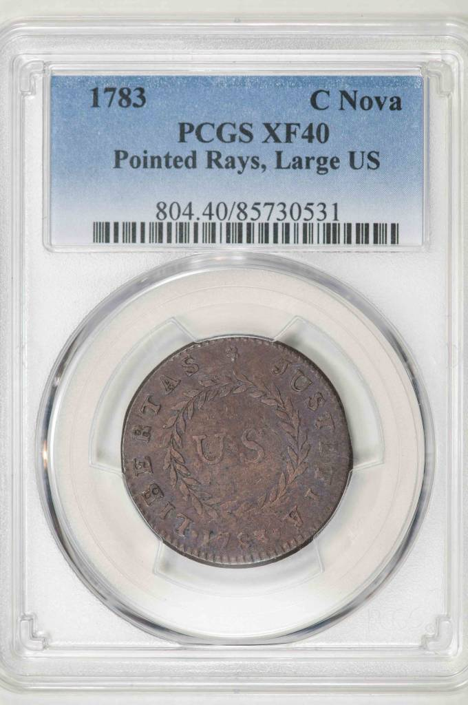 1783 PCGS XF40 C NOVA POINTED RAYS