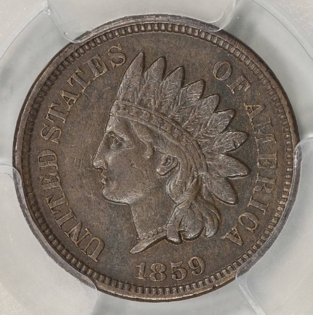 1859 PCGS GENUINE XF DETAILS Indian Cent