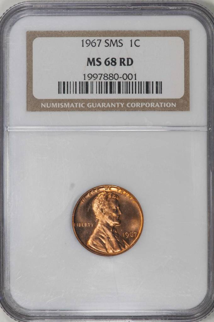 1967 SMS MS68 RD Lincoln Memorial Cent