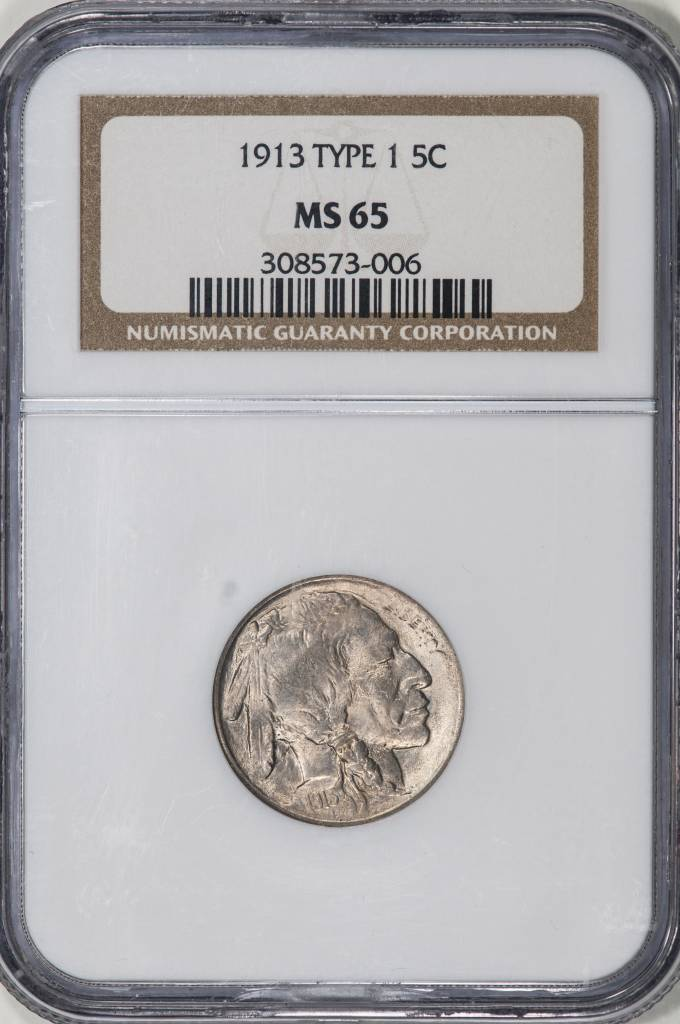 1913 Type 1 NGC MS65 Buffalo Nickel