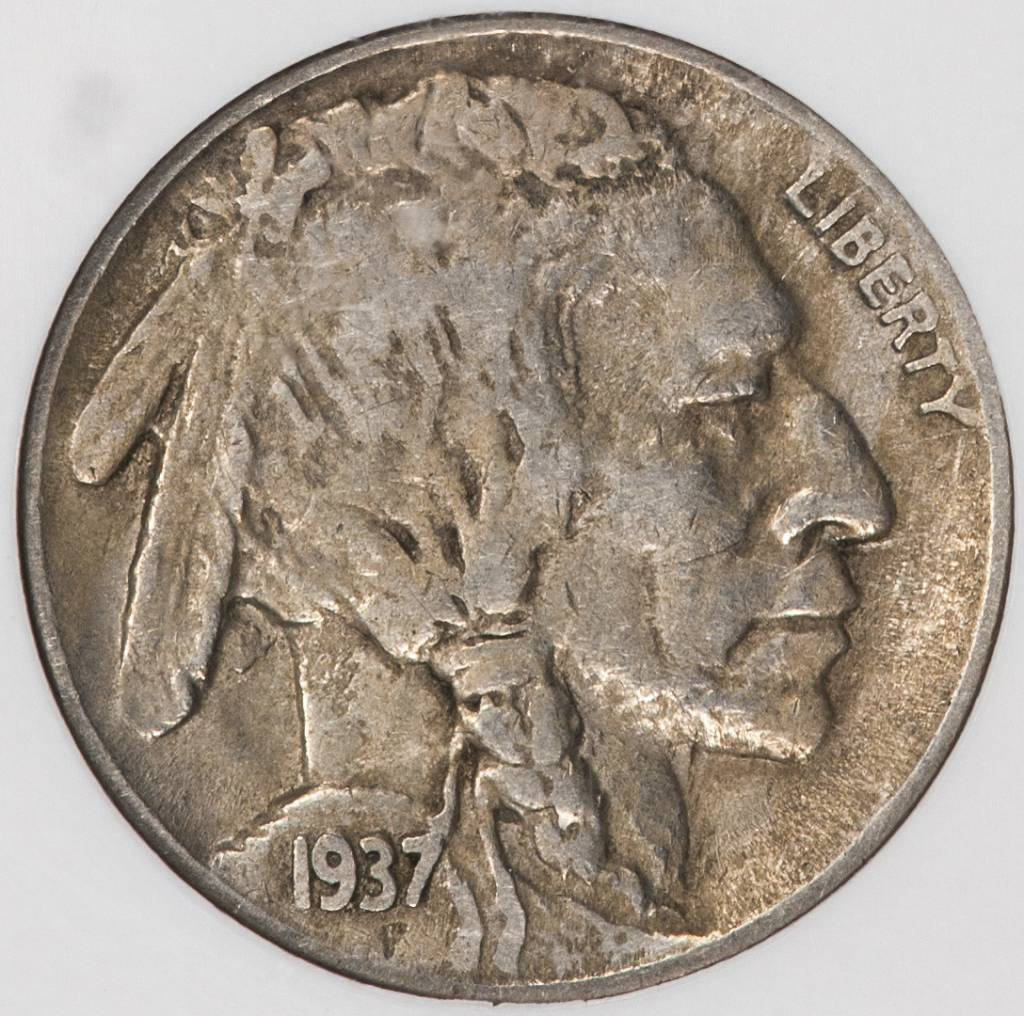 1937 D 3 Legs NGC XF45 Buffalo Nickel