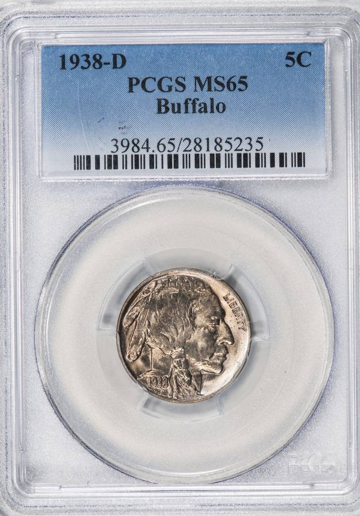 1938 D PCGS MS65 Buffalo Nickel