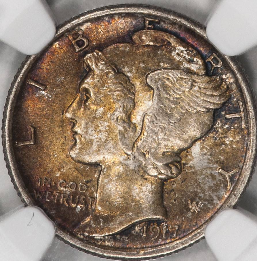 1917 NGC MS64FB Mercury Dime