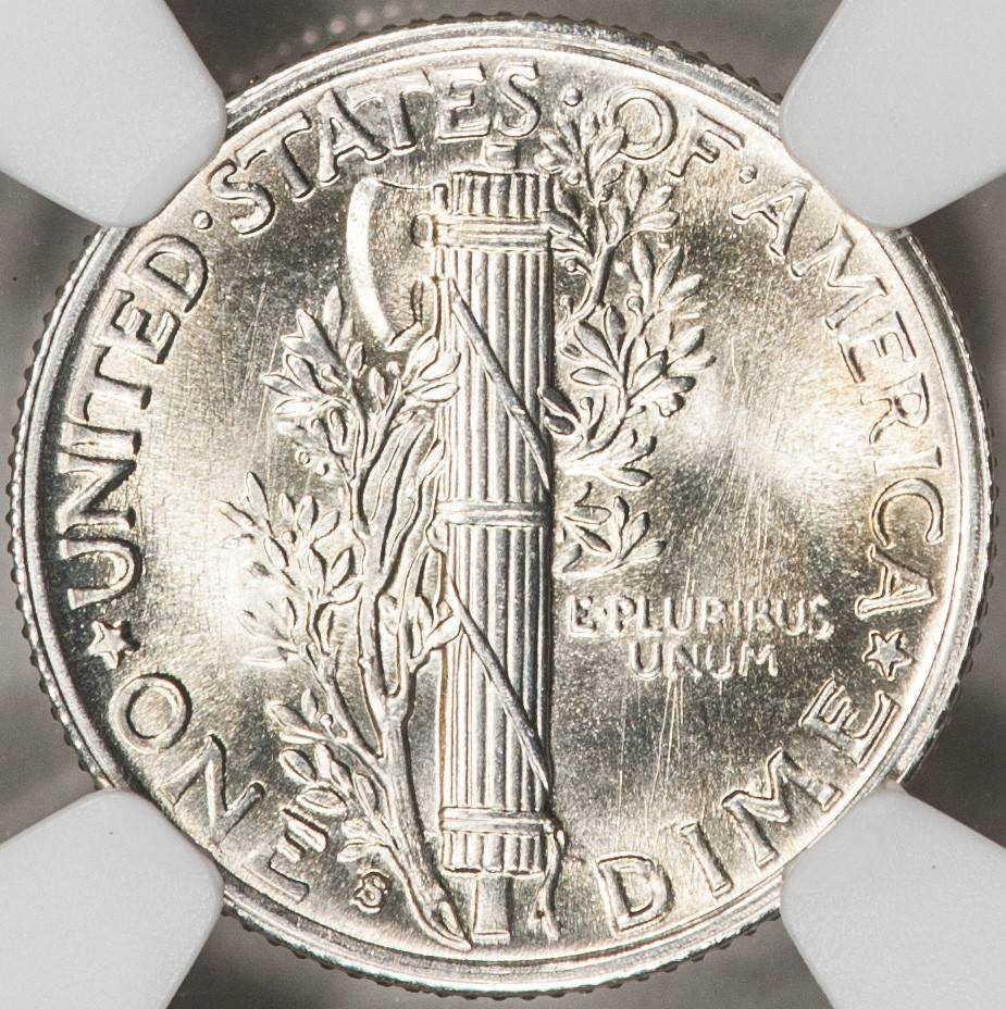 1941 S NGC MS65 FB Mercury Dime