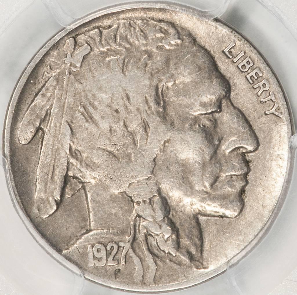 1927-D PCGS VF25 3 1/2 LEG Buffalo Nickel