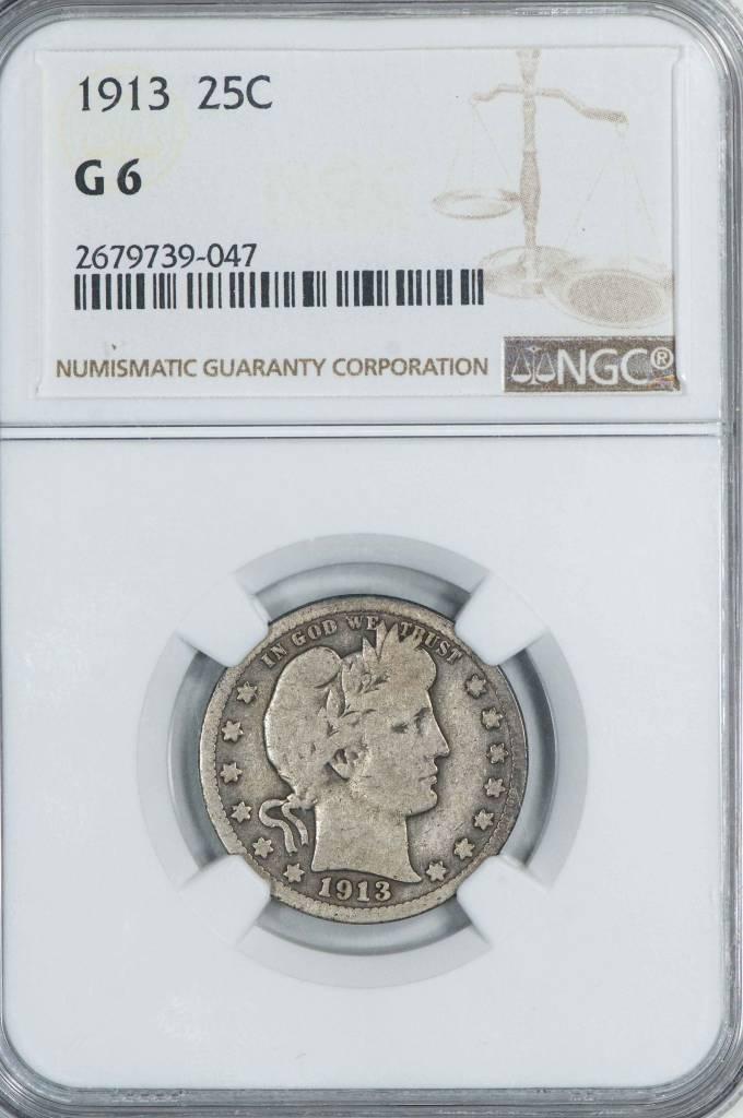 1913 NGC G 6 Barber Quarter
