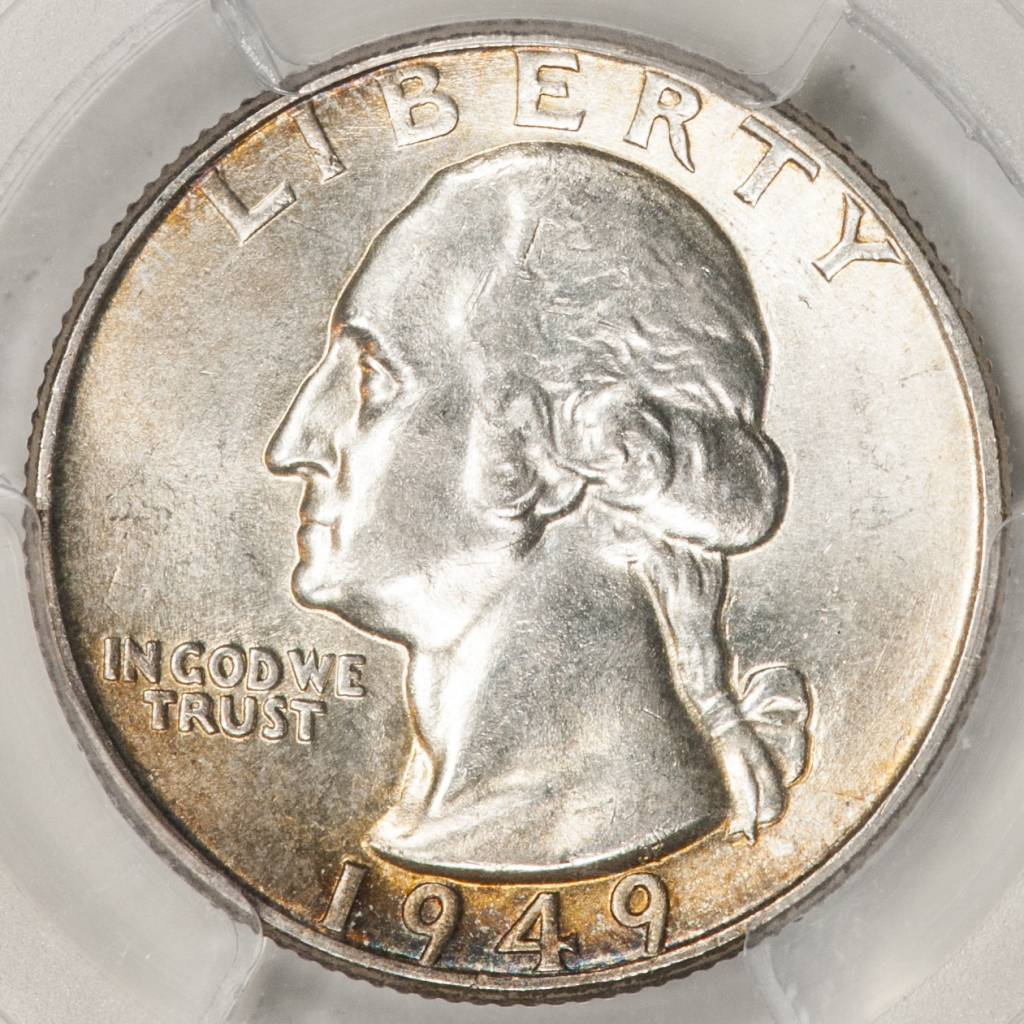 1949 PCGS MS66 Washington Quarter