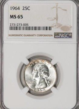 1964 NGC MS65 Washington Quarter