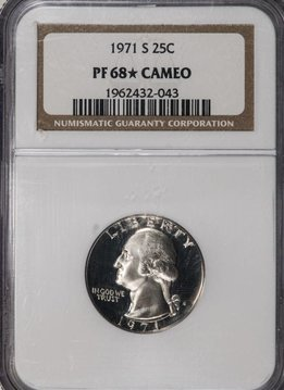1971 S NGC PF68 STAR CAMEO Washington Quarter