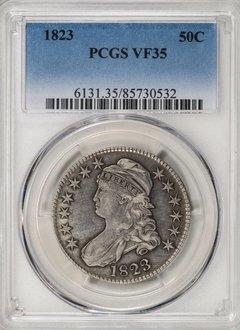 1823 PCGS VF35 Bust Half Dollar