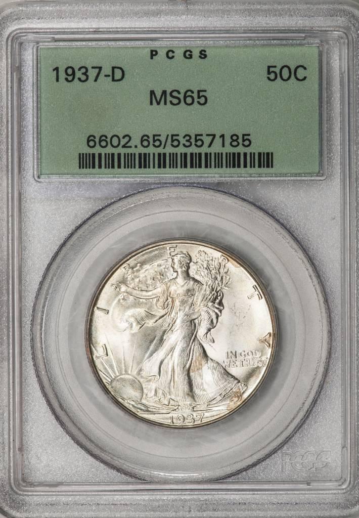 1937-D PCGS MS65 Walking Liberty Half Dollar