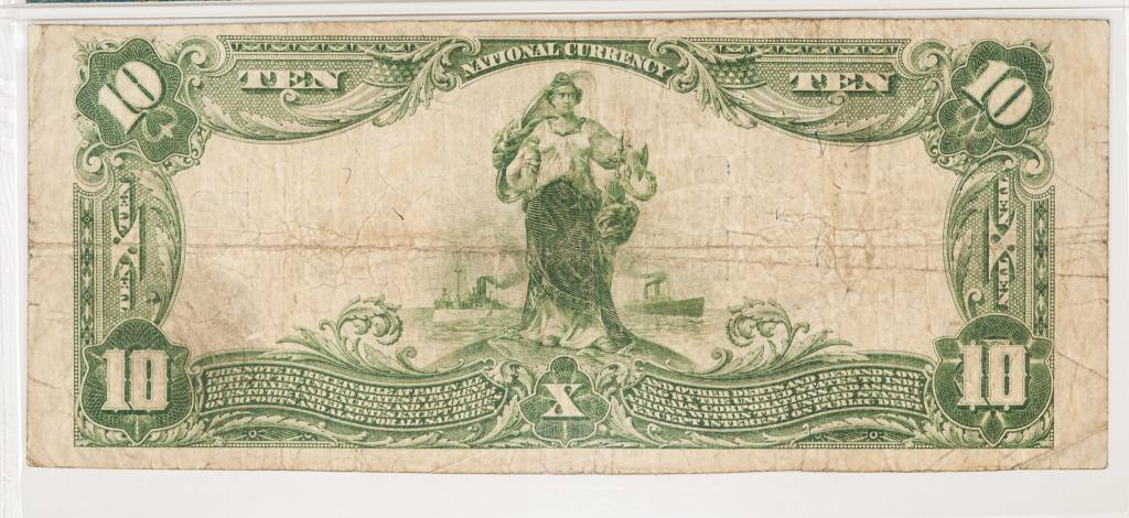 1902 PMG VF20 $10 Plain Back Fort Smith Arkansas National Bank Note CH#7240