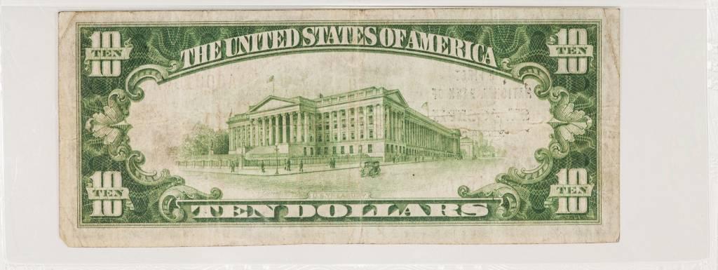 1929 Ty.1 PMG VF25 $10 Saint Jospeh Missouri National Bank Note CH#4939