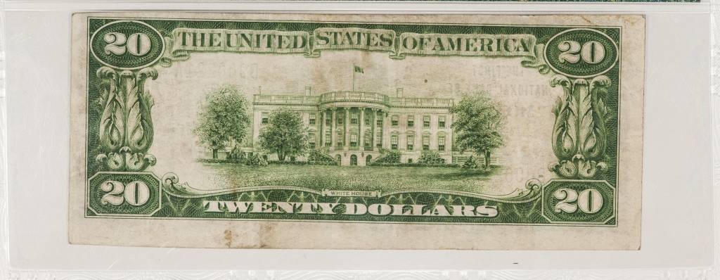 1929 Ty.1 PMG VF35 $20 Monett Missouri National Bank Note CH#5973