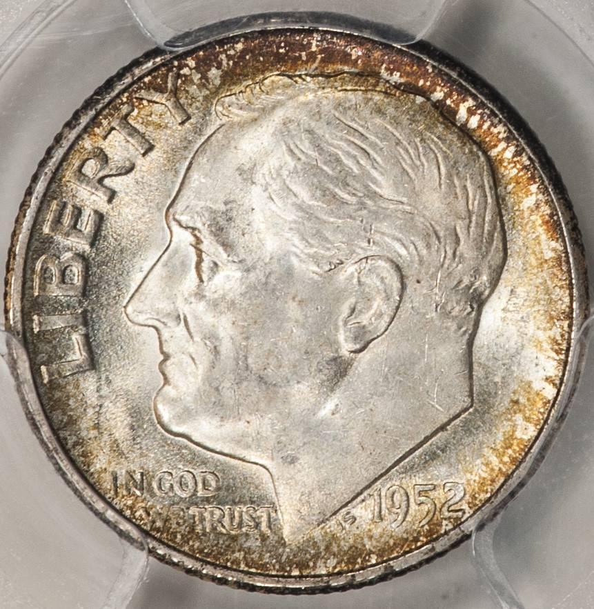 1952 S PCGS MS65 Roosevelt Dime