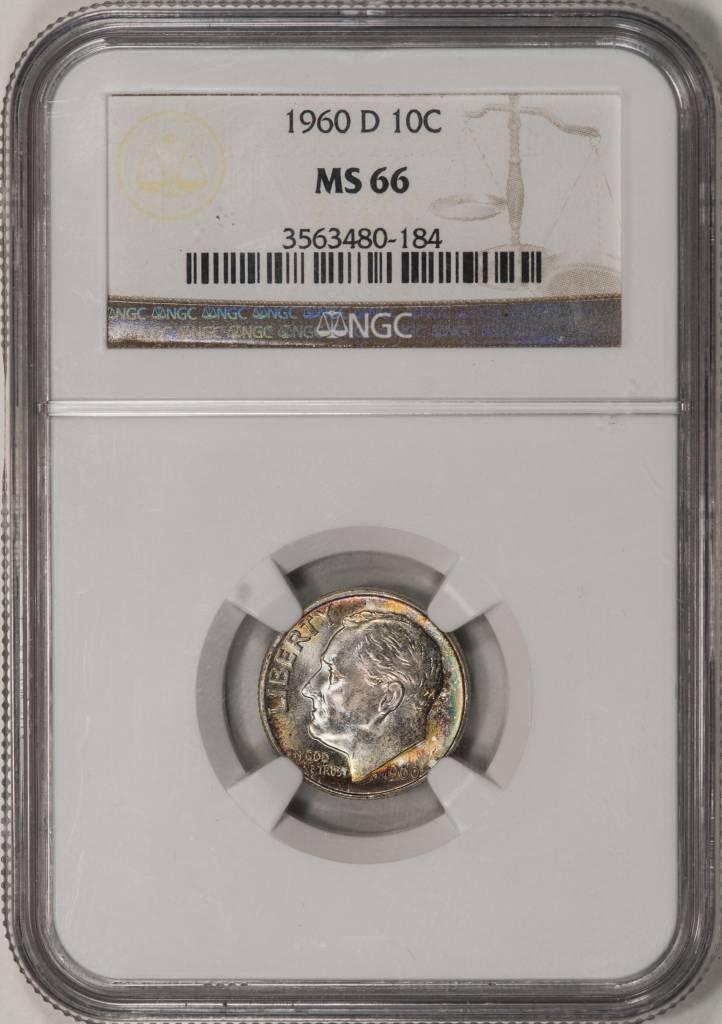 1960 D NGC MS66 Roosevelt Dime