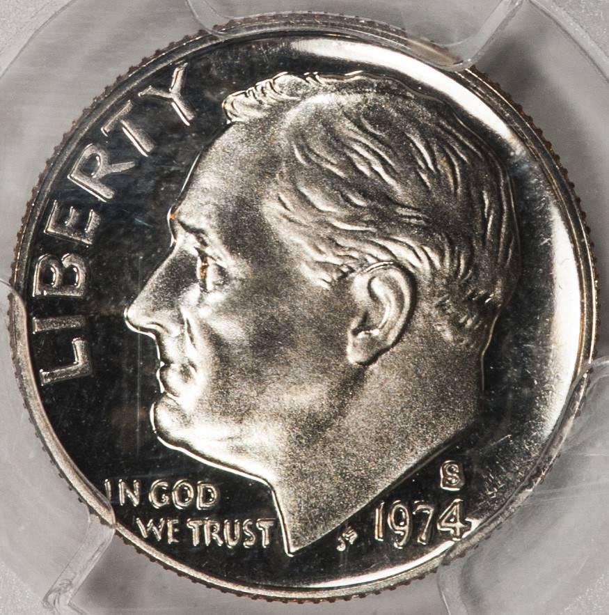 1974 S PCGS PR69 DCAM Roosevelt Dime