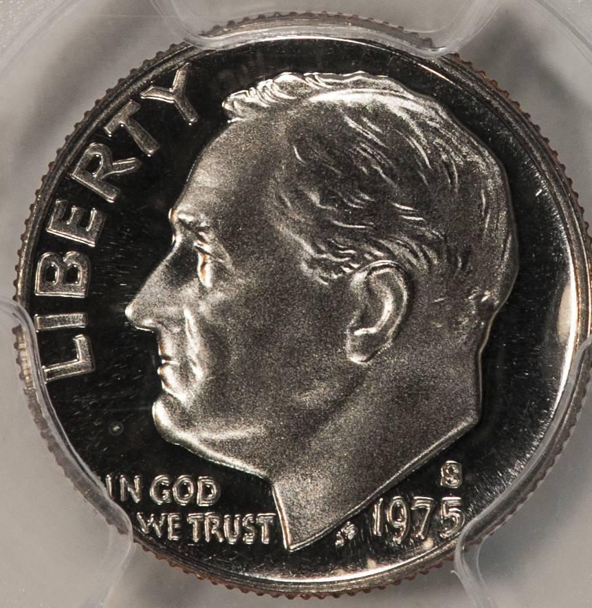 1975 S PCGS PR69DCAM Roosevelt Dime