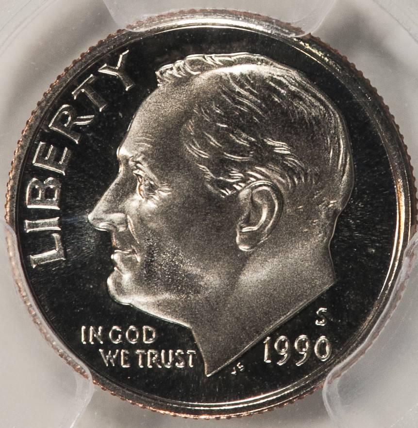 1990 S PR69 DCAM Roosevelt Dime